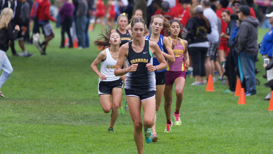Colleen finishing in 10th at Lowell.